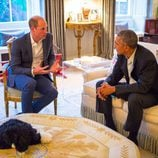 El Príncipe Guillermo con Barack Obama en Kensington Palace