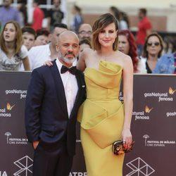 Natalia de Molina y Javier Gutiérrez en la gala de inauguración del Festival de Cine de Málaga 2016