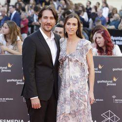 Alberto Ammann y Clara Méndez en la gala de inauguración del Festival de Cine de Málaga 2016