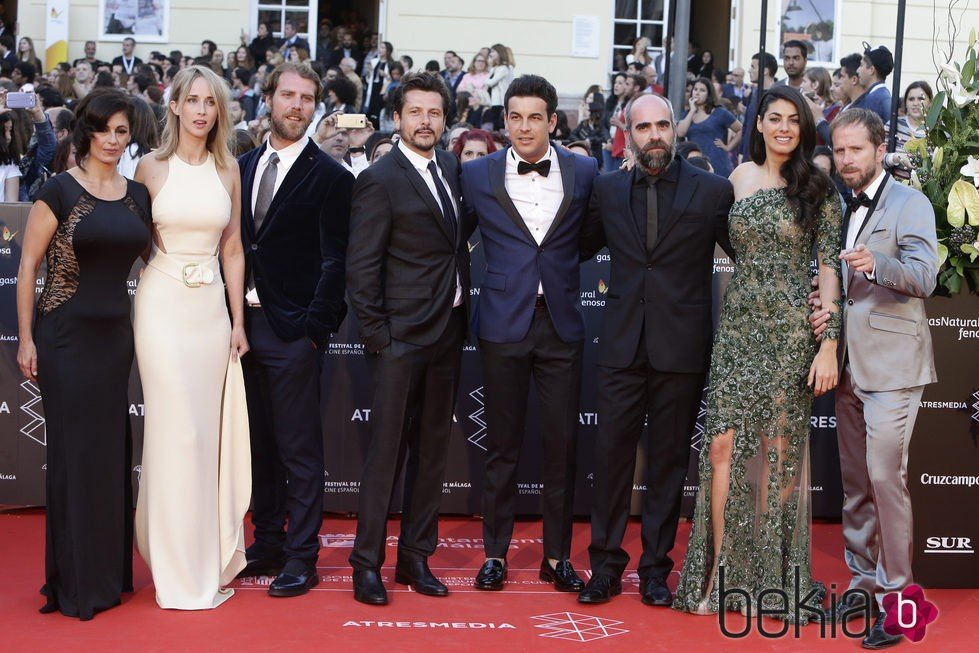 El reparto de 'Toro' en la gala de inauguración del Festival de Cine de Málaga 2016