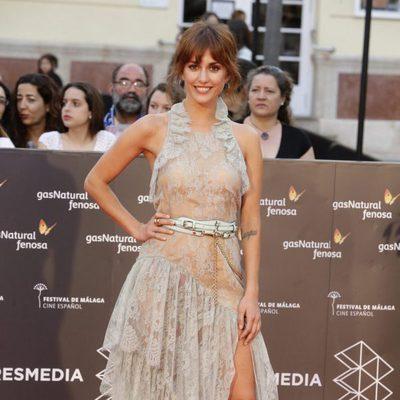Silvia Alonso en la entrega del Premio Málaga Sur en el Festival de Málaga 2016