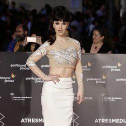 Sara Vega en la entrega del Premio Málaga Sur en el Festival de Málaga 2016