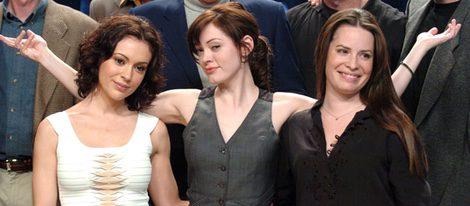 Alyssa Milano, Rose McGowan y Holly Marie Combs en la celebración de los 150 episodios de  'Embrujadas'
