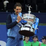 Rafa Nadal celebra su victoria en el Torneo Conde de Godó 2016