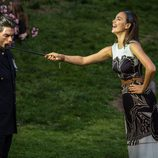 Irina Shayk se divierte durante una sesión de fotos para Vogue en Nueva York