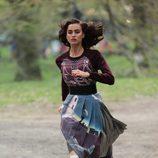Irina Shayk a las carreras durante una sesión de fotos para Vogue en Nueva York