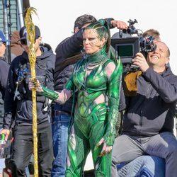 Elizabeth Banks interpreta a 'Rita Repulsa' en el rodaje de la película 'Power Rangers'