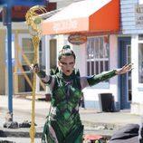 Elizabeth Banks en el rodaje de la película 'Power Rangers'