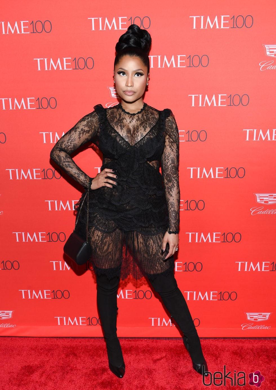 Nicki Minaj en la fiesta organizada por la revista Time en Nueva York