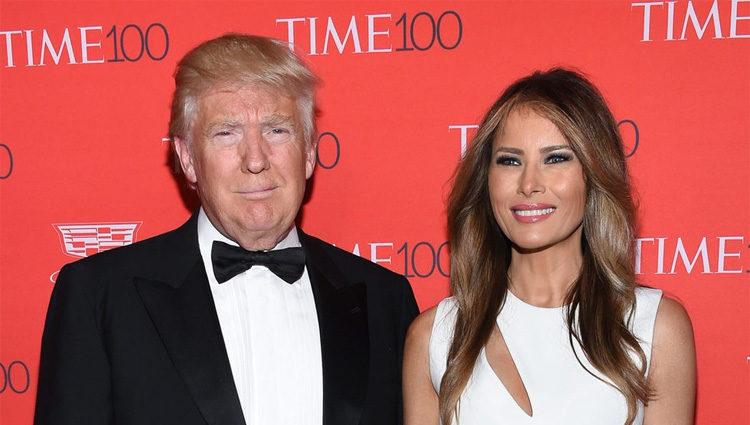 Donald Trump y Melanie Trump en la fiesta organizada por la revista Time en Nueva York