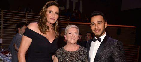 Caitlyn Jenner y Lewis Hamilton en la fiesta organizada por la revista Time en Nueva York