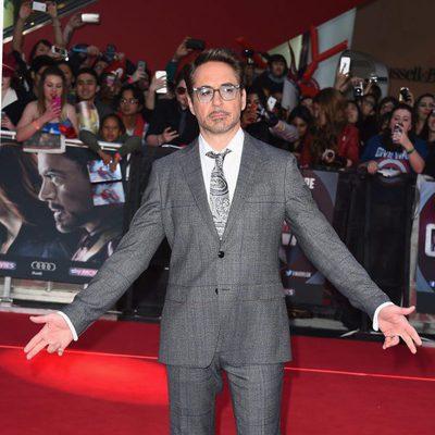 Robert Downey Jr. en la premiere de la película 'Capitán América: Civil War' en Londres
