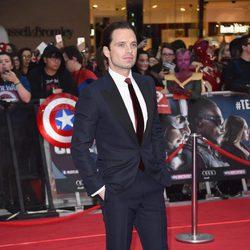 Sebastian Stan en la premiere de la película 'Capitán América: Civil War' en Londres