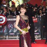 Ryoko Yonekura en la premiere de la película 'Capitán América: Civil War' en Londres