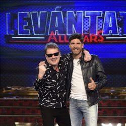 Toño Sanchís y Alfonso Aguado en la presentación de 'Levántate All Stars'