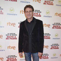 Juanjo Artero en la premiere de la película 'La noche que mi madre mató a mi padre' en Madrid