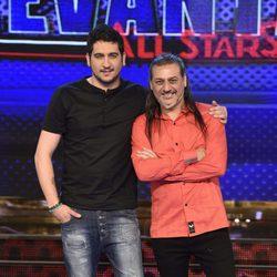 Dionisio Martín y su hijo Rubén Martín en la presentación de 'Levántate All Stars'