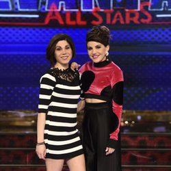Angy Fernández y su hermana Irene Fernández en la presentación de 'Levántate All Stars'