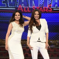 Toñi y Encarna Salazar en la presentación de 'Levántate All Stars'
