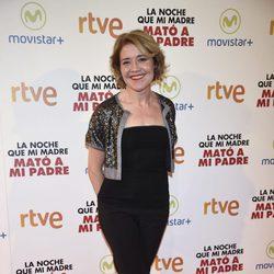 María Pujalte en la premiere de la película 'La noche que mi madre mató a mi padre' en Madrid