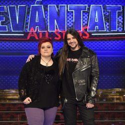 Maika Barbero y Rafa Blas en la presentación de 'Levántate All Stars'