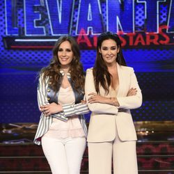 Vicky Martín Berrocal y María Toledo en la presentación de 'Levántate All Stars'