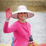La Reina Máxima de Holanda sonriente en el Día del Rey 2016