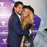 Paulina Rubio y Gerardo Bazúa en los Billboard Latin Awards 2016