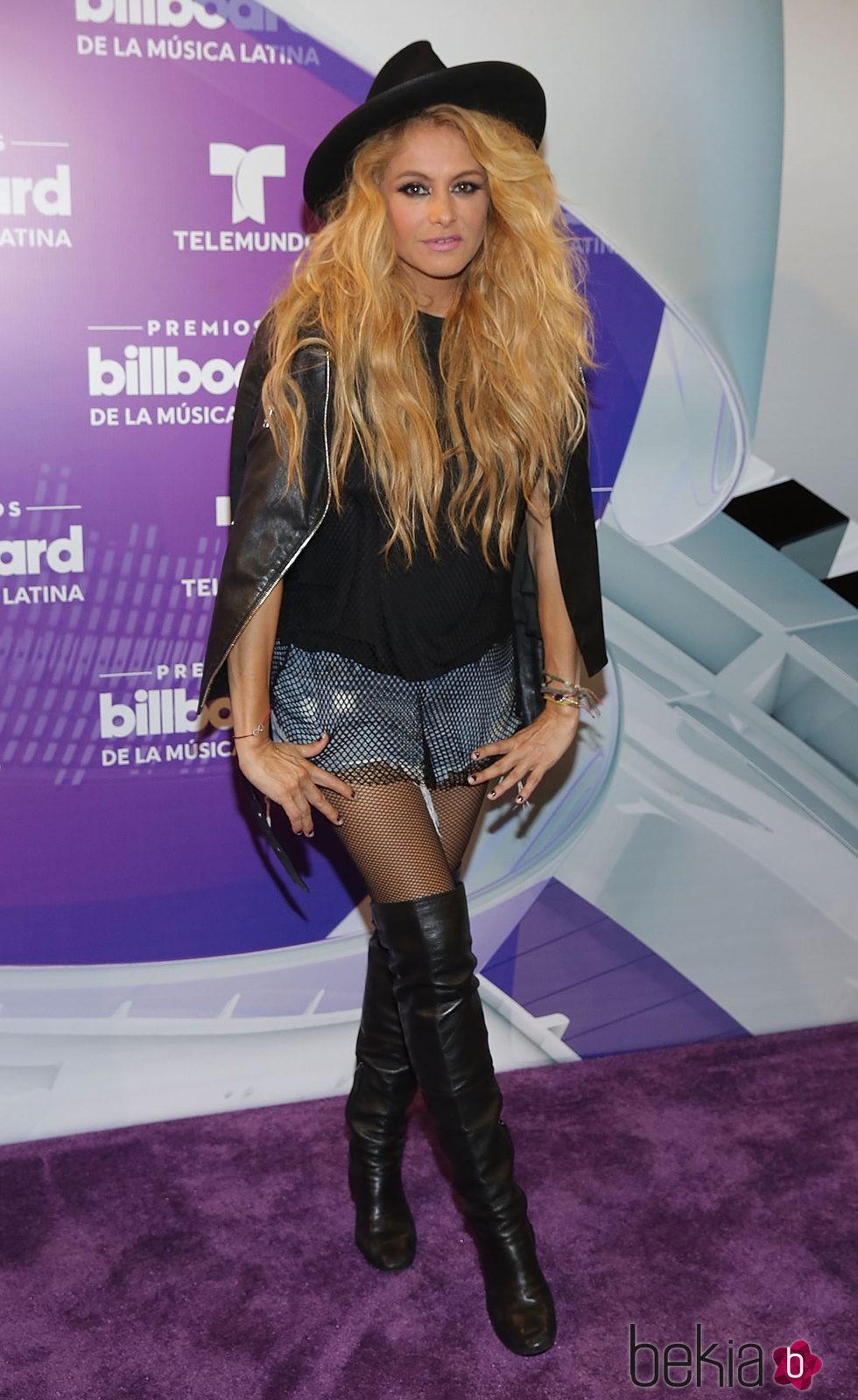 Paulina Rubio reaparece tras ser madre por segunda vez en los Billboard Latin Awards 2016