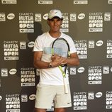 Rafa Nadal en la jornada benéfica previa al Mutua Madrid Open de Tenis