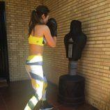 Paula Echevarría entrena boxeando
