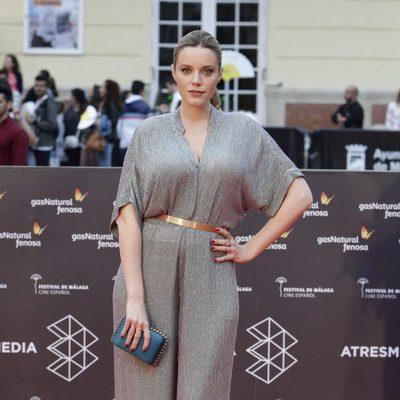 Carolina Bang en la alfombra roja del Festival de Málaga de 2016