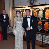 La Princesa Magdalena de Suecia y Chris ONeill  en la cena de gala en el 70 cumpleaños del Rey Gustavo de Suecia