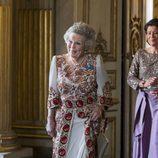 La Princesa Beatriz de Holanda en la cena de gala en el 70 cumpleaños del Rey Gustavo de Suecia