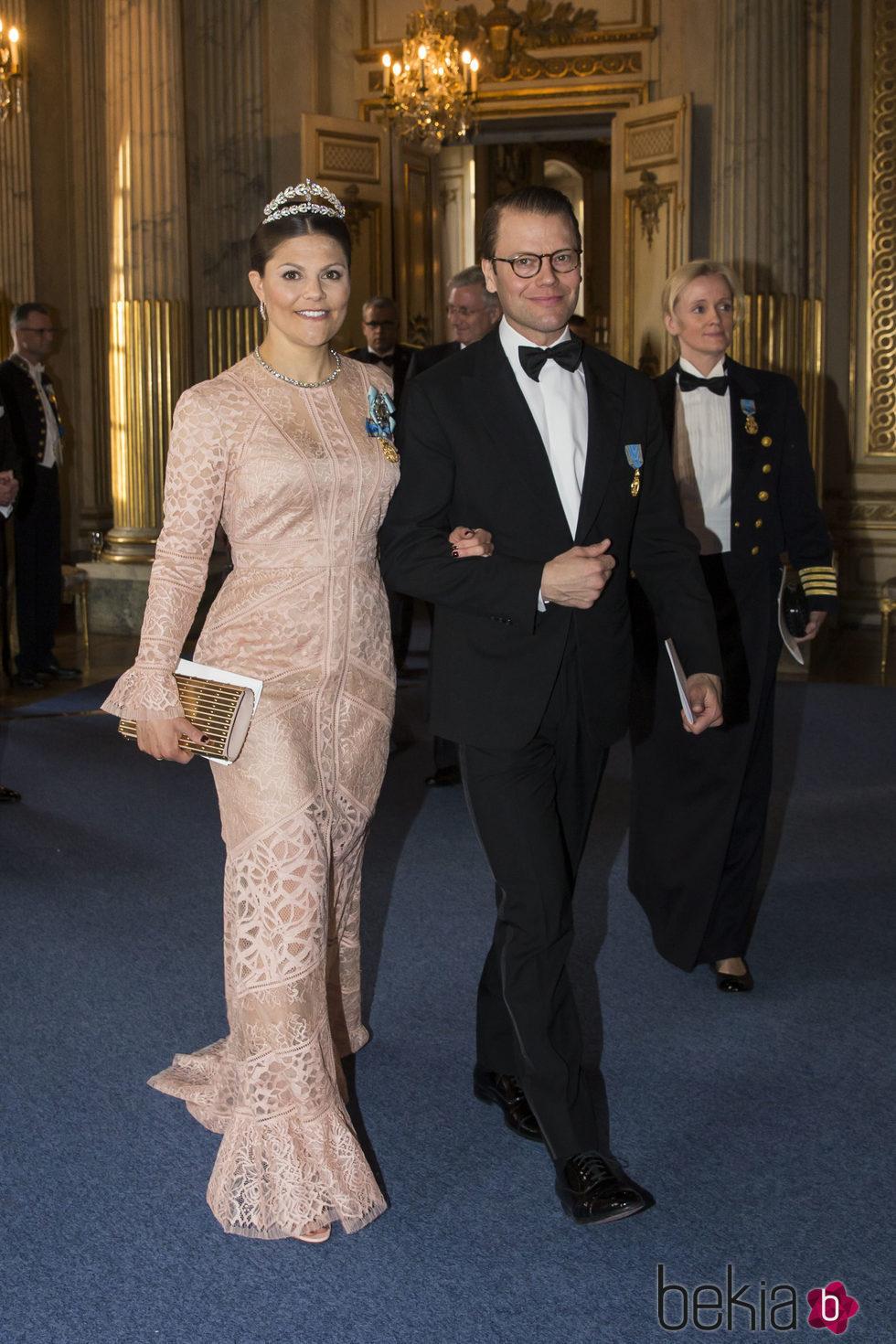 La Princesa Victoria de Suecia en la cena de gala en el 70 cumpleaños del Rey Gustavo de Suecia