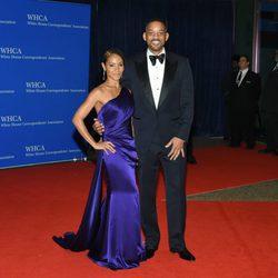 Jada Pinkett Smith y Will Smith  en la Fiesta de Corresponsales 2016 en la Casa Blanca