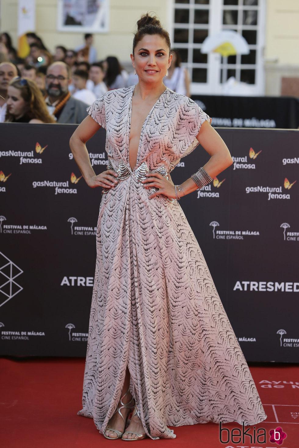 Toni Acosta en la clausura del Festival de Málaga 2016