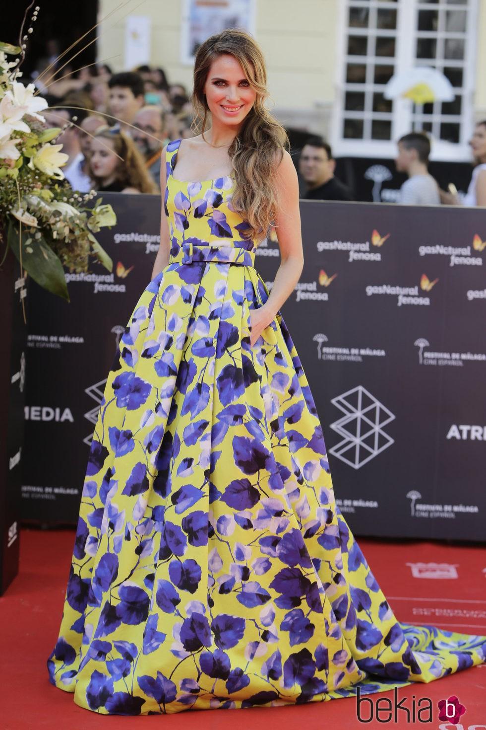 Vanesa Romero en la clausura del Festival de Málaga 2016