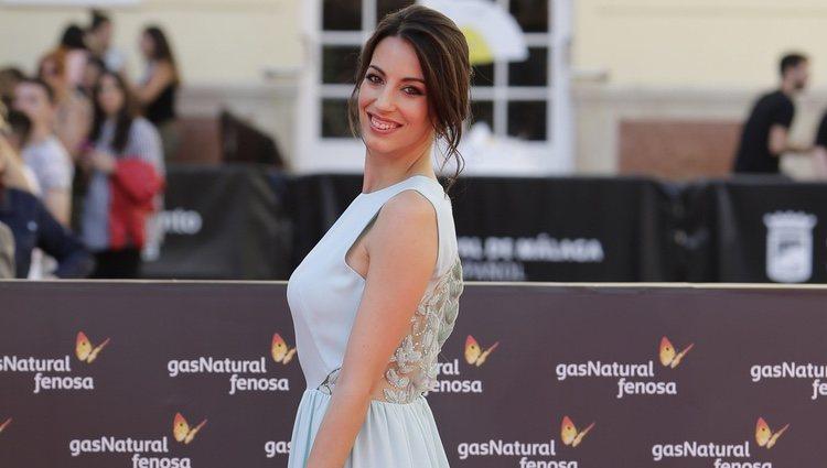 Almudena Cid en la clausura del Festival de Málaga 2016