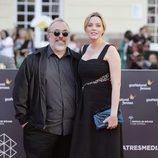 Carolina Bang y Álex de la Iglesia en la clausura del Festival de Málaga 2016