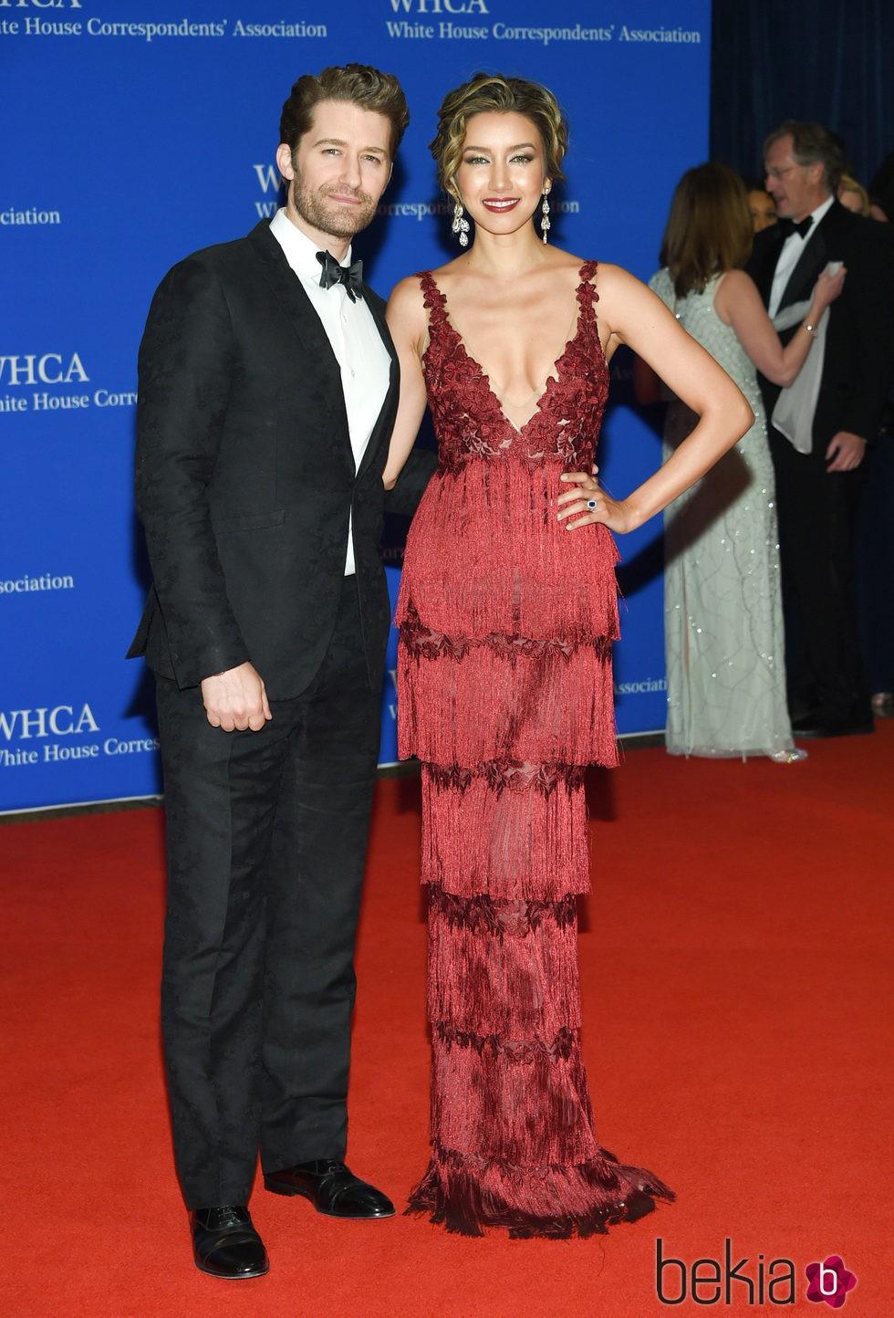 Matthew Morrison y Renee Puente en la Fiesta de Corresponsales 2016 en la Casa Blanca