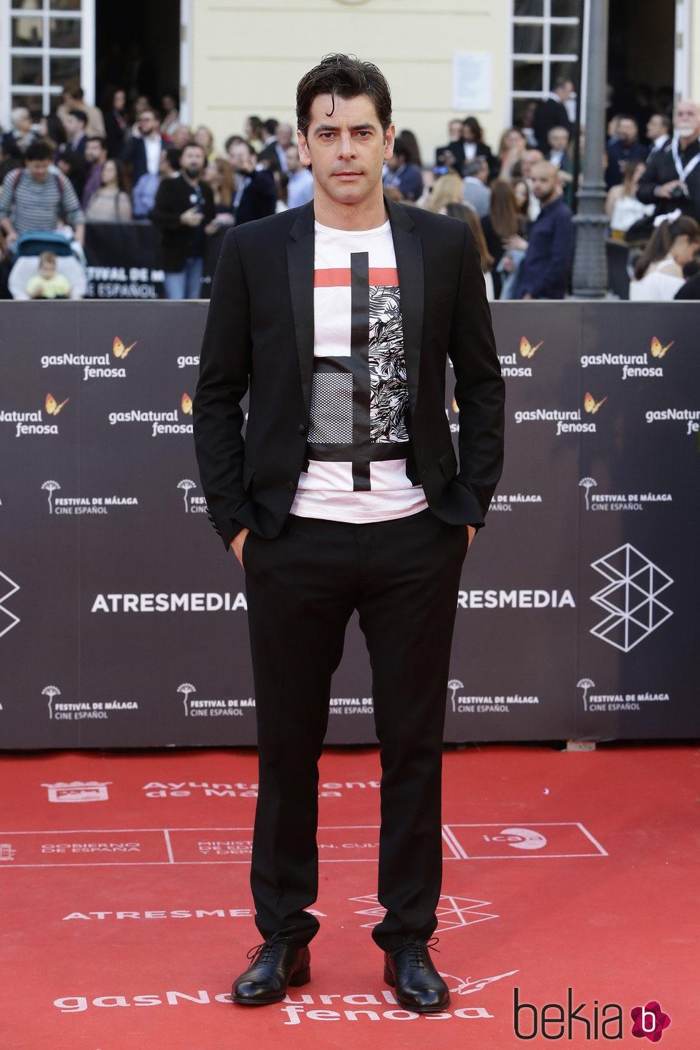Eduardo Noriega en la clausura del Festival de Málaga 2016