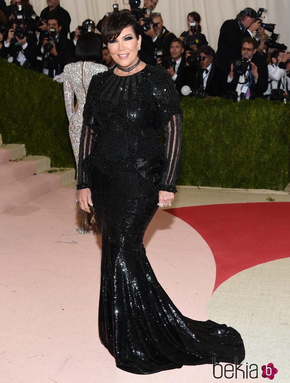 Kris Jenner en la Gala Met 2016