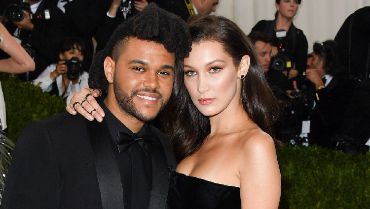 Bella Hadid y The Weeknd en la Gala Met 2016