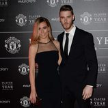 Edurne y David de Gea en la gala Player of the Year 2016 del Manchester United