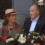 La Infanta Elena y el Rey Juan Carlos en el Madrid Open 2016