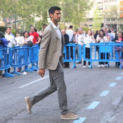 Novak Djokovic en el partido de Champions Real  Madrid-Manchester City
