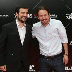 Alberto Garzón y Pablo Iglesias en los Premios Ortega y Gasset 2016