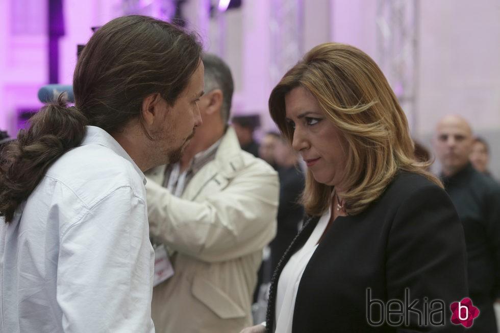 Pablo Iglesias y Susana Díaz en los Premios Ortega y Gasset 2016