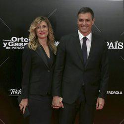 Pedro Sánchez y Begoña Gómez en los Premios Ortega y Gasset 2016